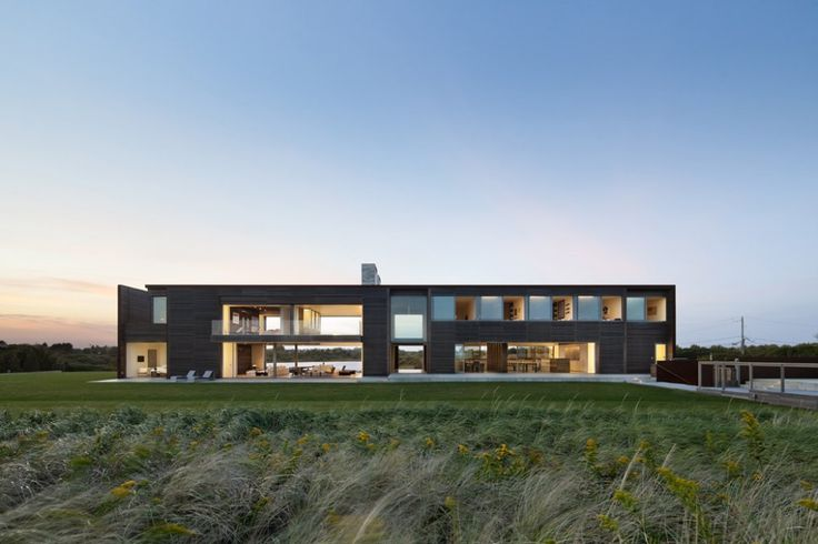 Residential Architecture: Exploring the Relationship between Interior + Exterior - Sagaponack House by Bates Masi + Architects