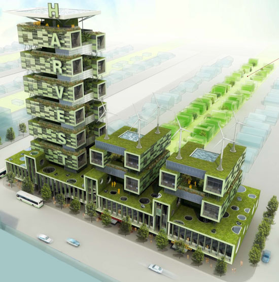 Urban Farming: Harvest Green architecture project by Romses Architects