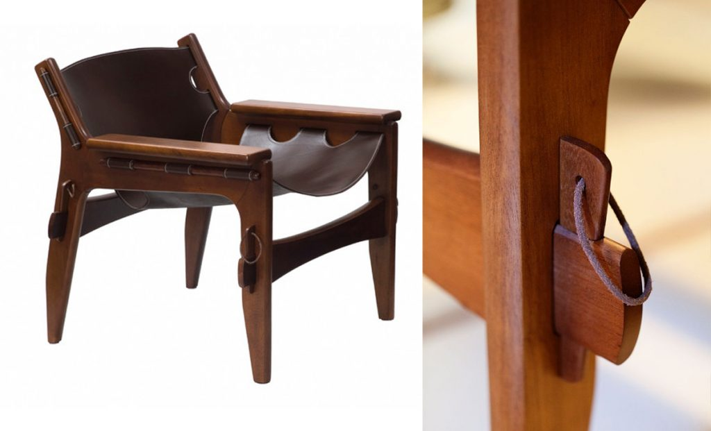 From Furniture to Architecture: Design is in the Details - Kilin Chair with beautiful pin detail by Sergio Rodrigues