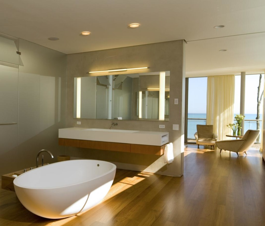 Cascade House by Gluck+ - Oh that tub! #residential #architecture post by Studio MM