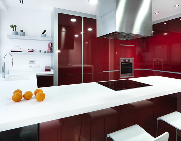 Contemporary Kitchen Design: A Pop of Color in the Kitchen