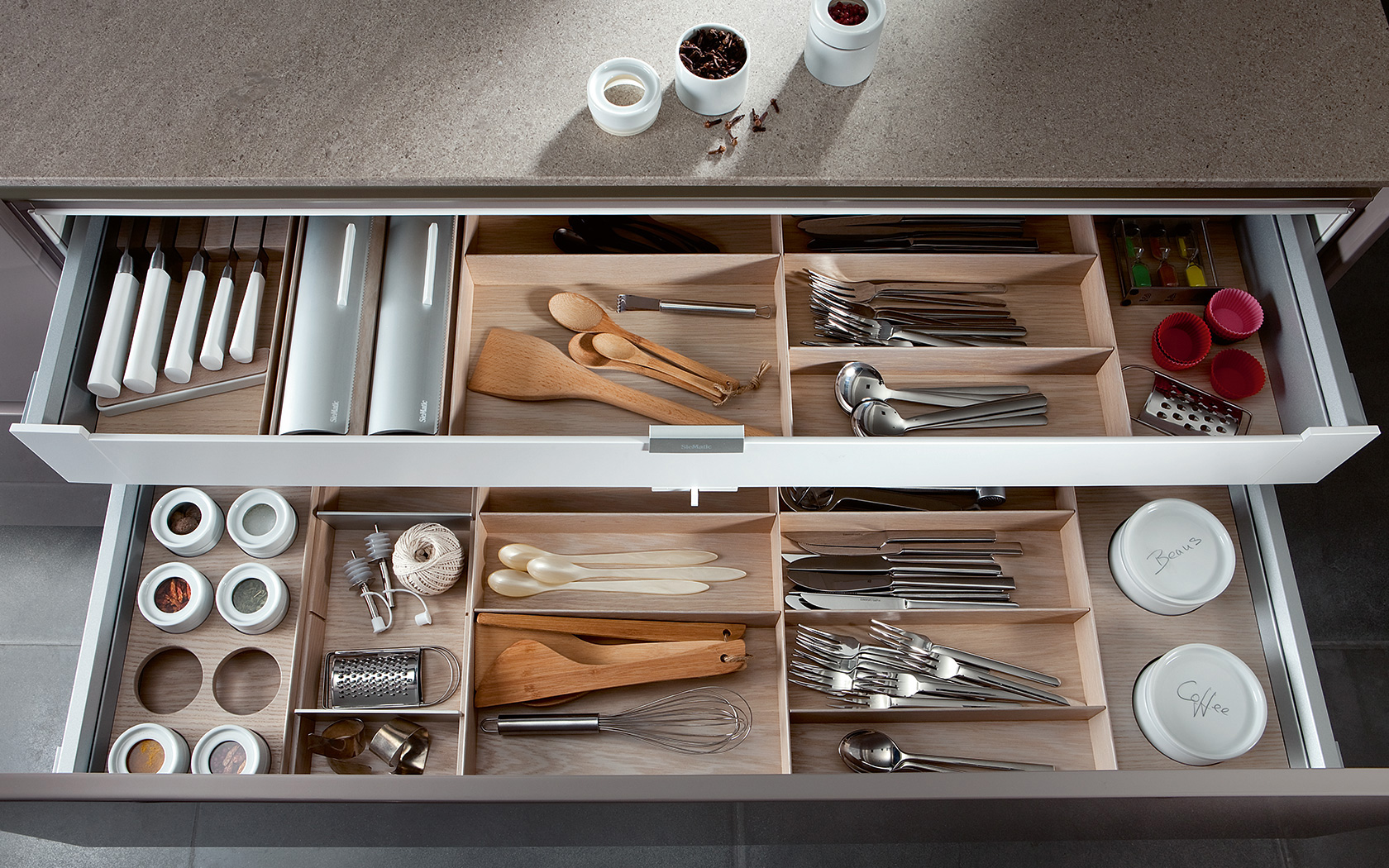 Modern Kitchen Design: SieMatic Kitchen Organization