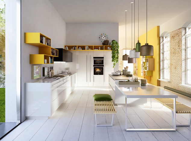 Design Inspiration: A Pop of Color in the Kitchen