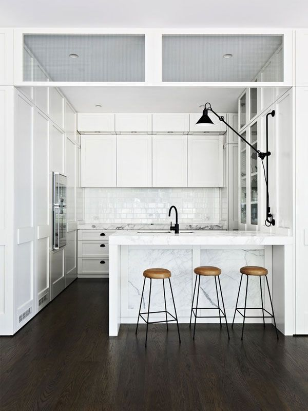 Contemporary Kitchen Design: The All White Kitchen