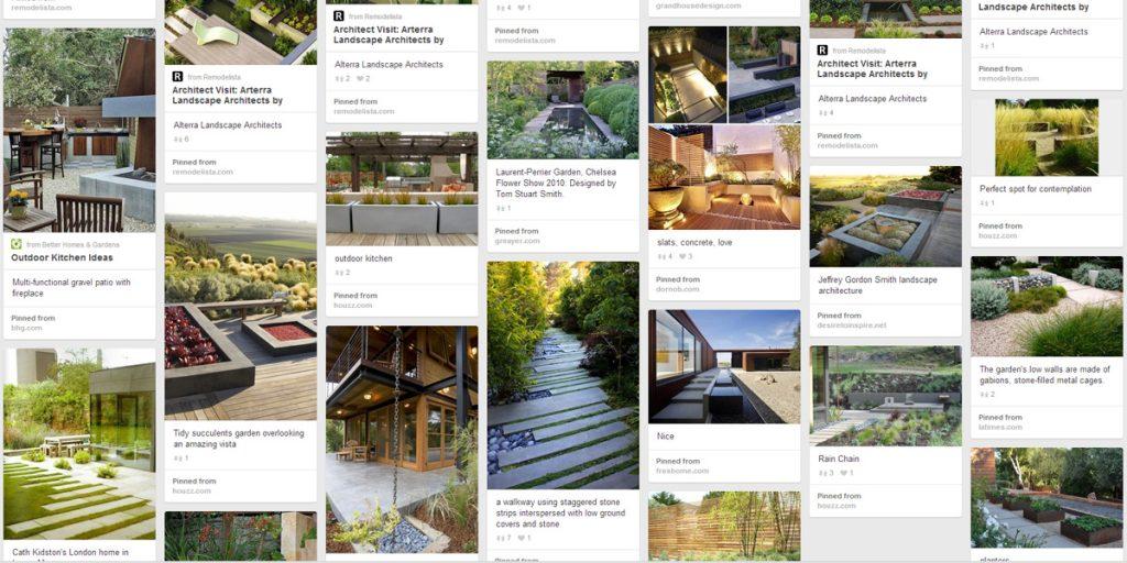 modern garden designs, contemporary landscapes
