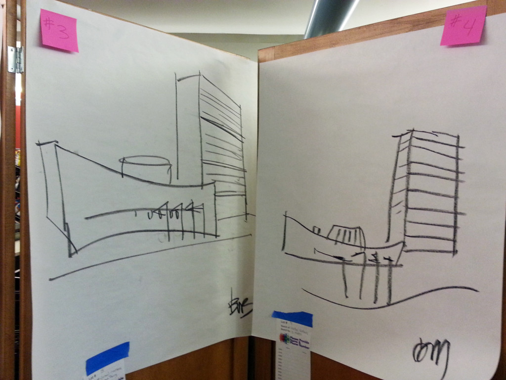 Guess-A-Sketch: United Nations Building sketch