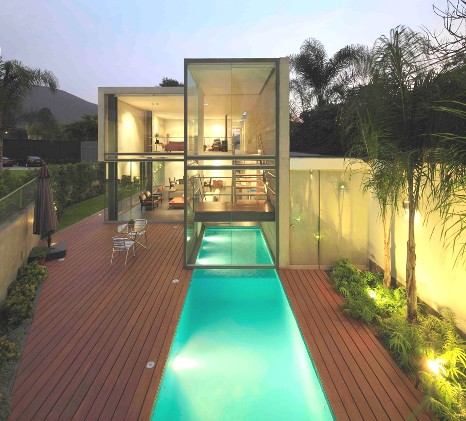 Home design inspiration contemporary pool ideas studio - Modern house with pool ...