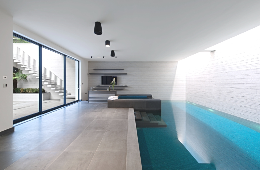 Modern Indoor Pool - SHH West London House