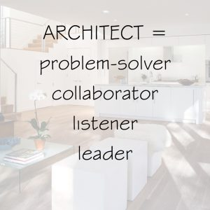 Architect is Leader