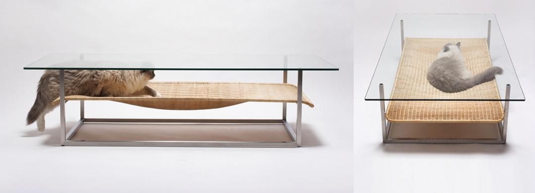Coffee table hammock designed by koichi futatsumata images from e amp y