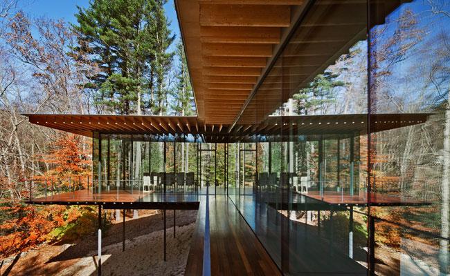 Glass Wood House by Kengo Kuma