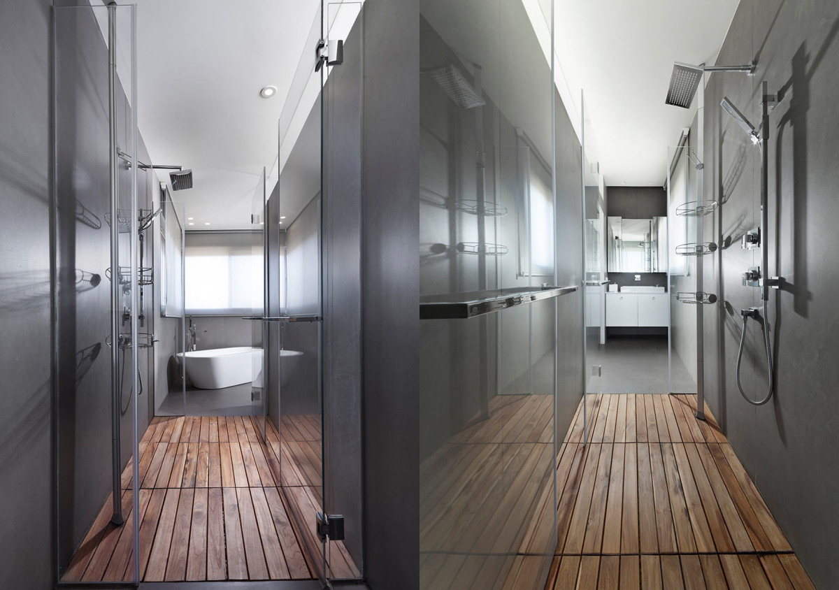 Modern Design Inspiration  Walk Through Showers Studio MM Architect