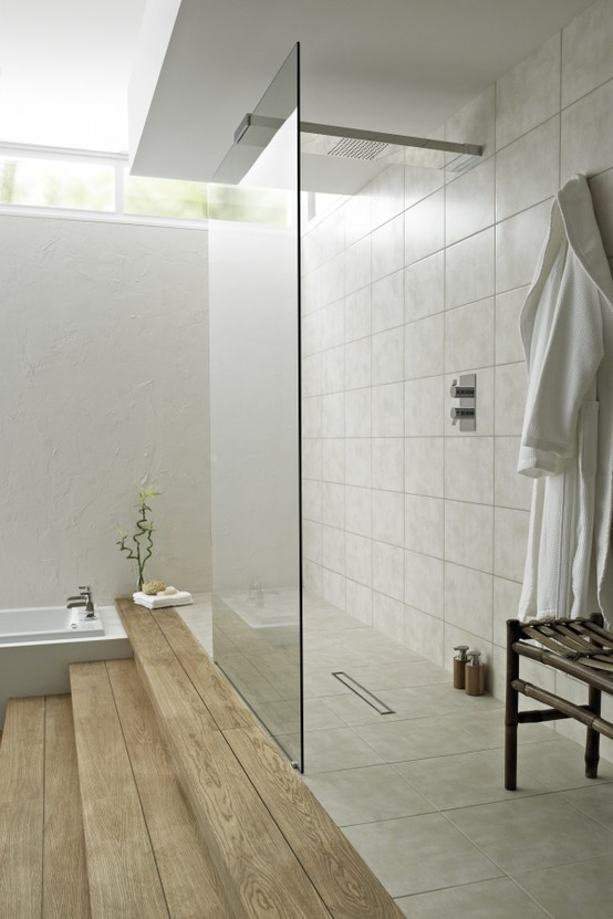 Modern design inspiration walk through showers studio for Walk through shower to tub