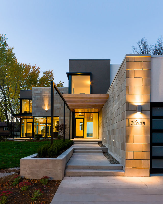 Contemporary Home Exterior Design Ideas: Modern Exterior Cladding: Brick, Block + Stone