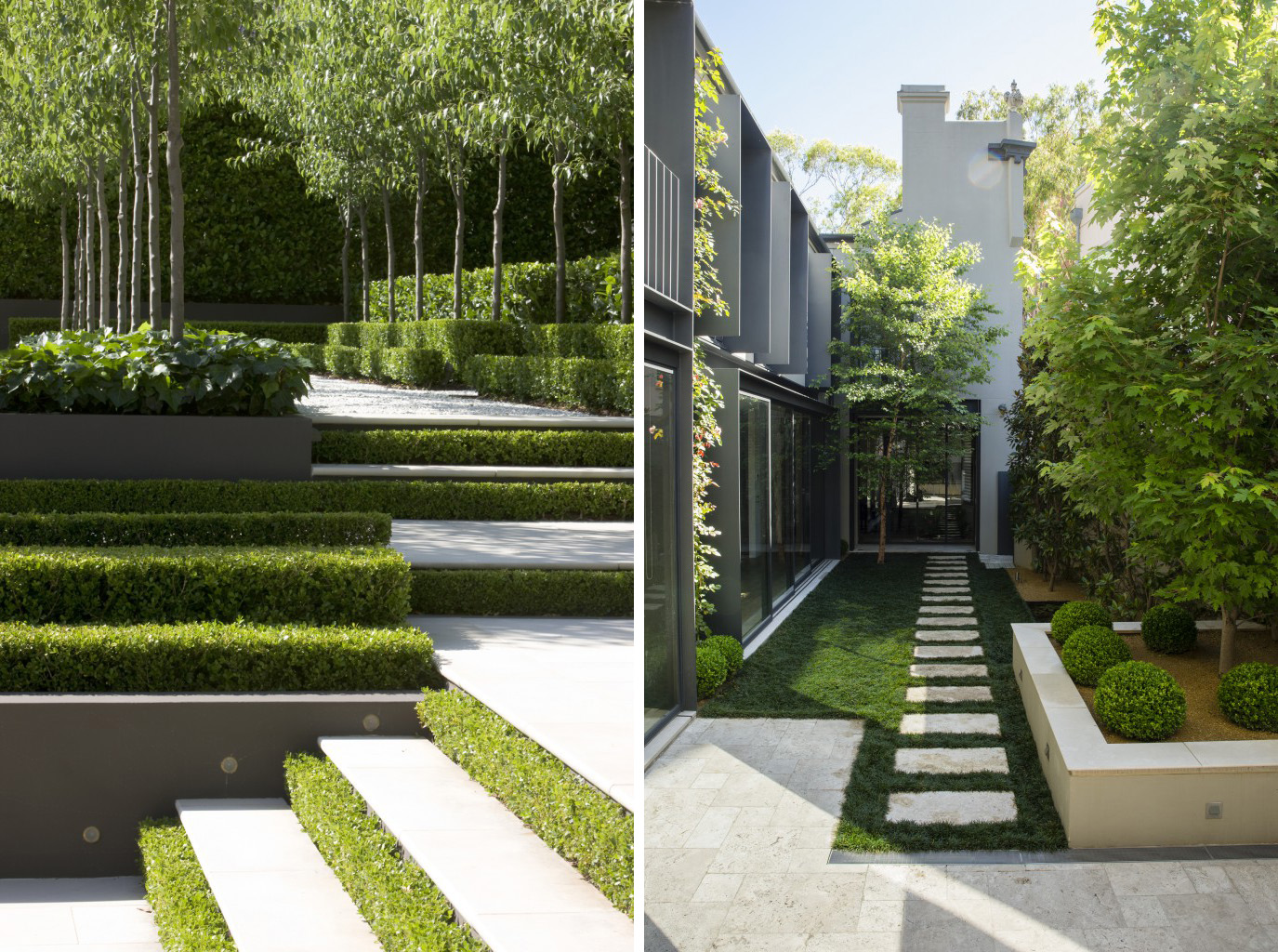 Contemporary landscapes modern gardens inspiration for for Garden and design