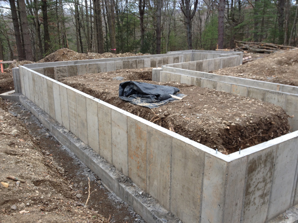 foundation walls below is a photo of the wall once the formwork is