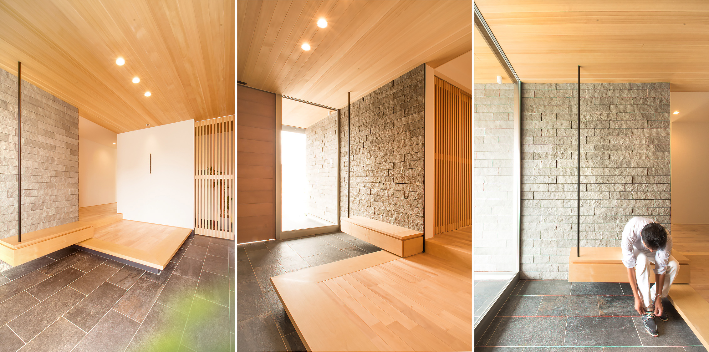 Residential design inspiration modern genkan studio mm for Modern japanese tea house design