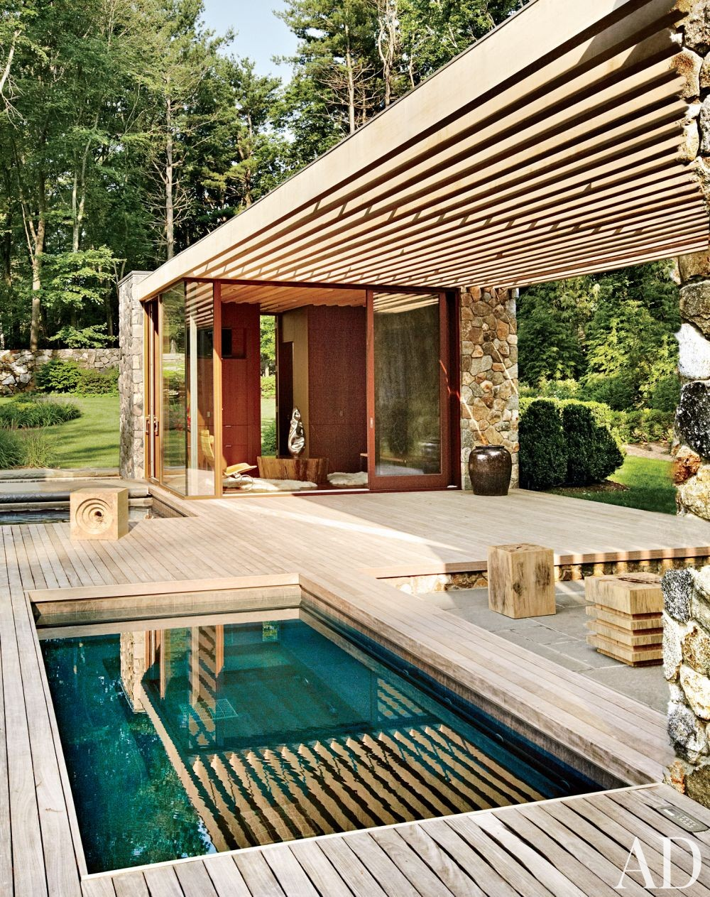 Residential design inspiration modern pool canopy for Pool and pool house