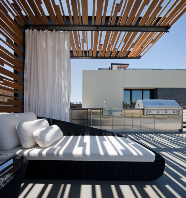 Modern Canopy residential design inspiration: modern pool canopy / outdoor shady