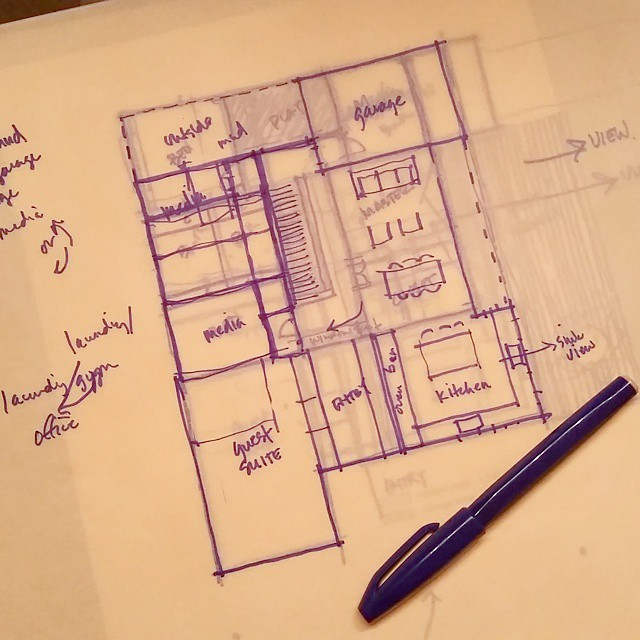Architectural sketching - one reason I am an Architect