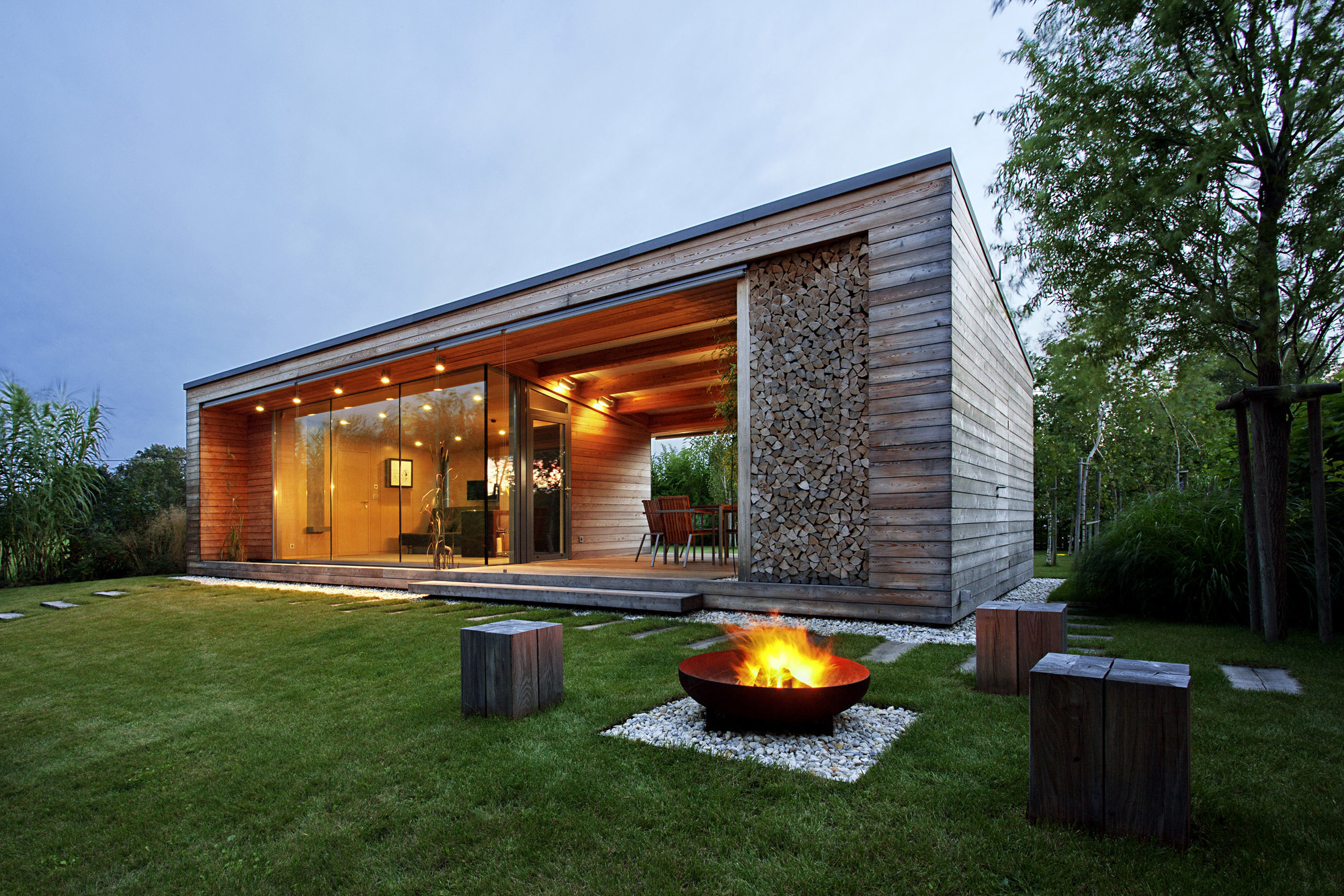 modern cabin holiday cottage modern design