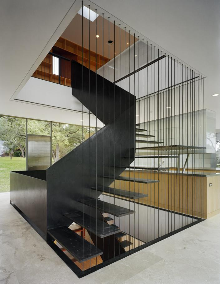 Residential design inspiration modern railings and - Escaleras de interior modernas ...