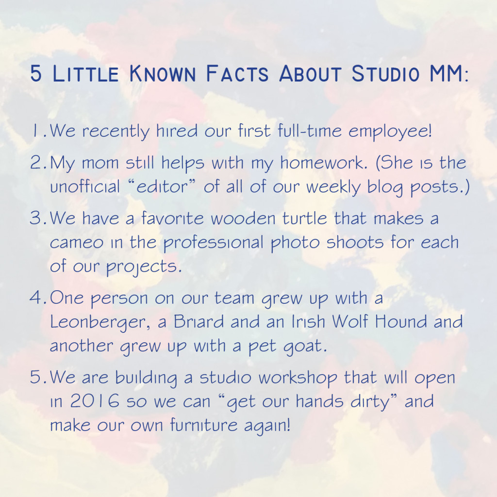 5 Little Known Facts about Studio MM