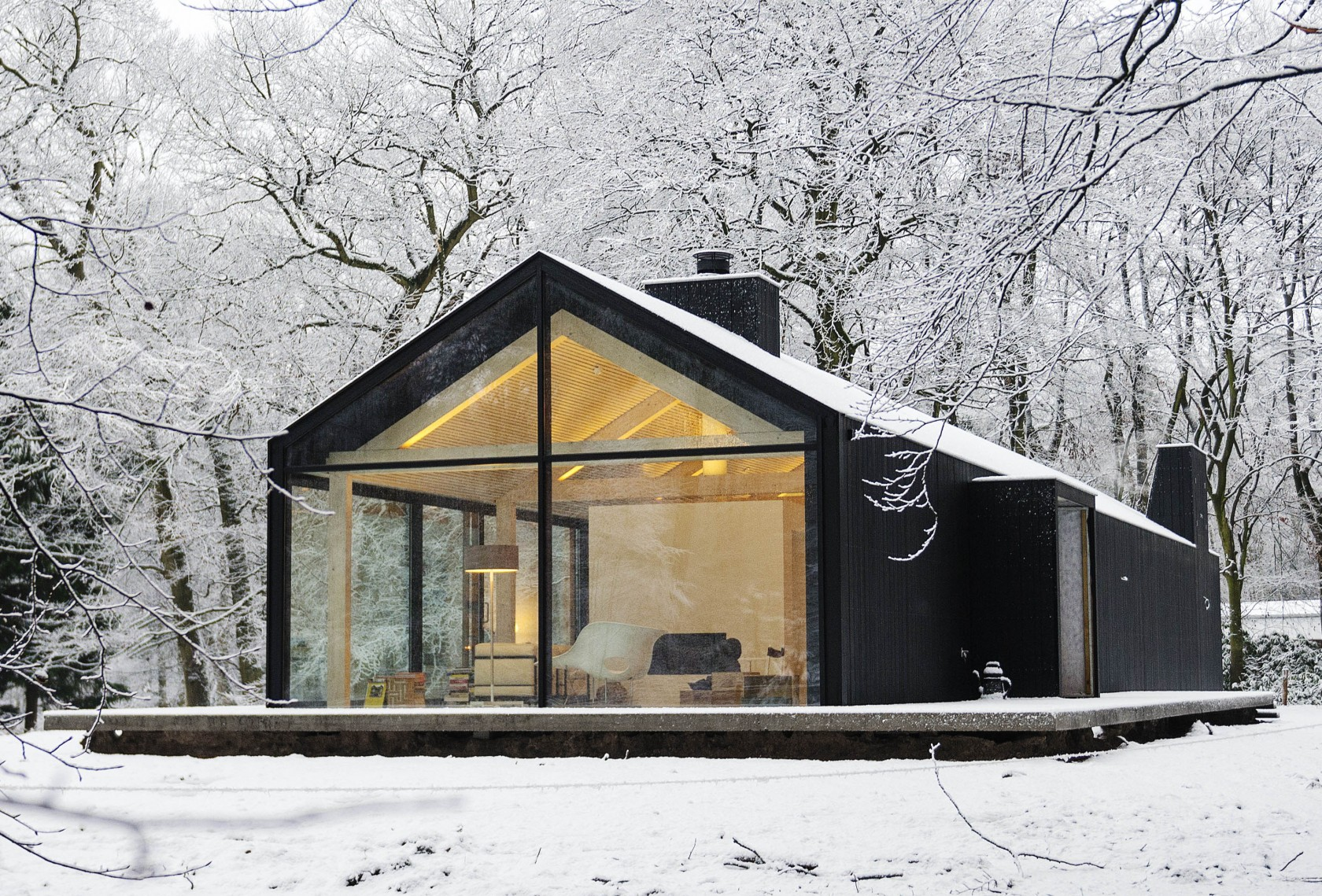 Design inspiration modern cabin love studio mm architect for Contemporary designs of one bedroom cottages