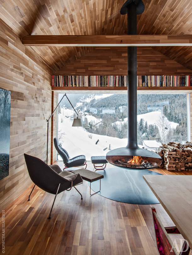 Modern fireplaces rustic refined studio mm architect - Chalet modern design ...