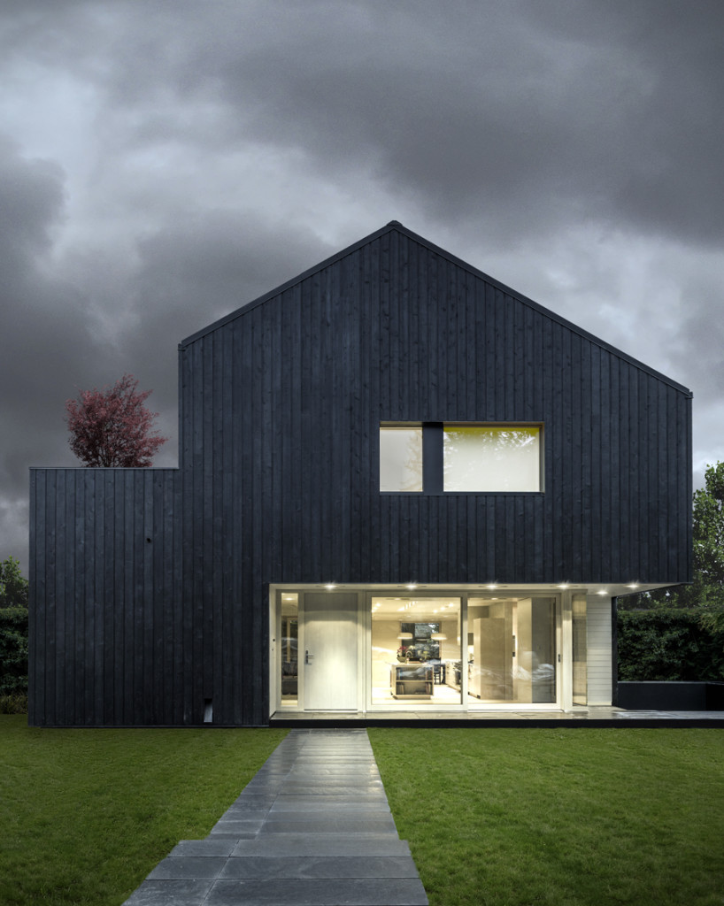Modern design inspiration black houses studio mm architect for Black home design