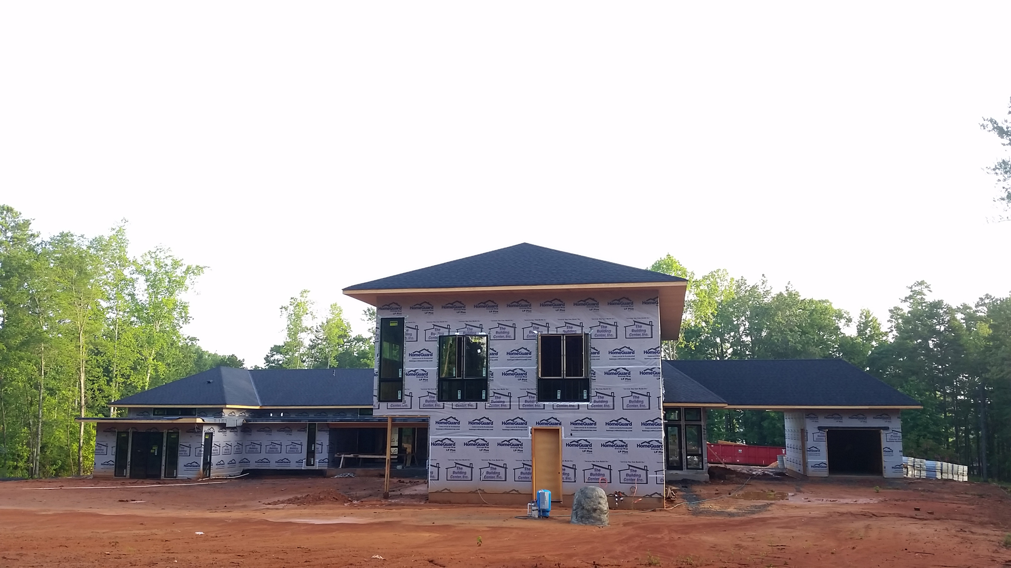 Modern home construction update lake wylie house