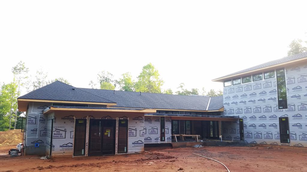 Modern Home Under Construction - Lake Wylie House, Studio MM Architect