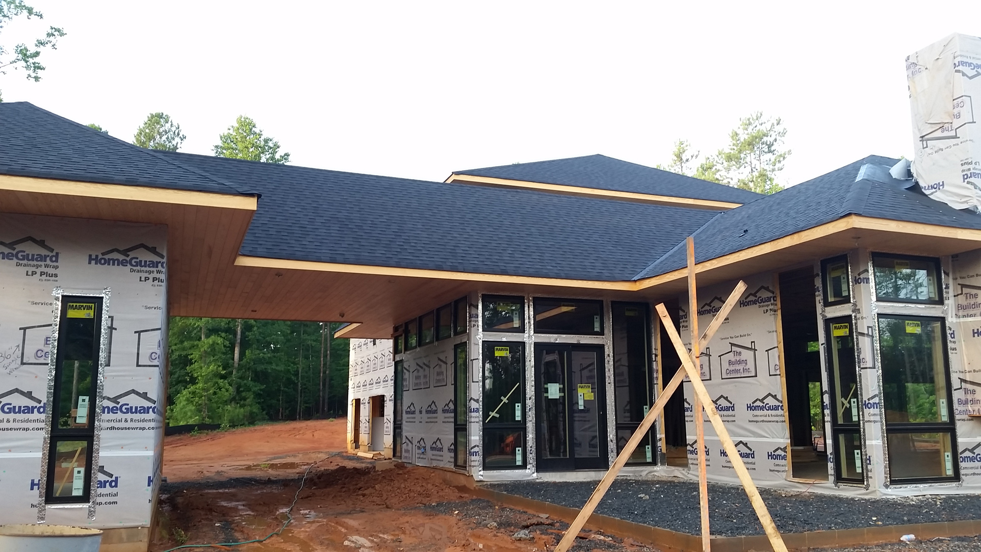 Modern home under construction lake wylie house