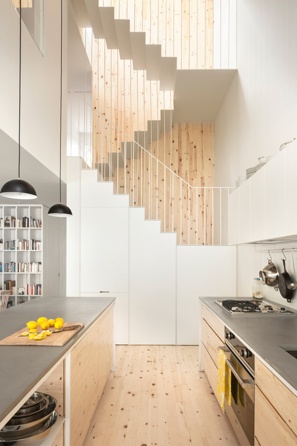 Contemporary Stair Design - Continuous Metal Stairs