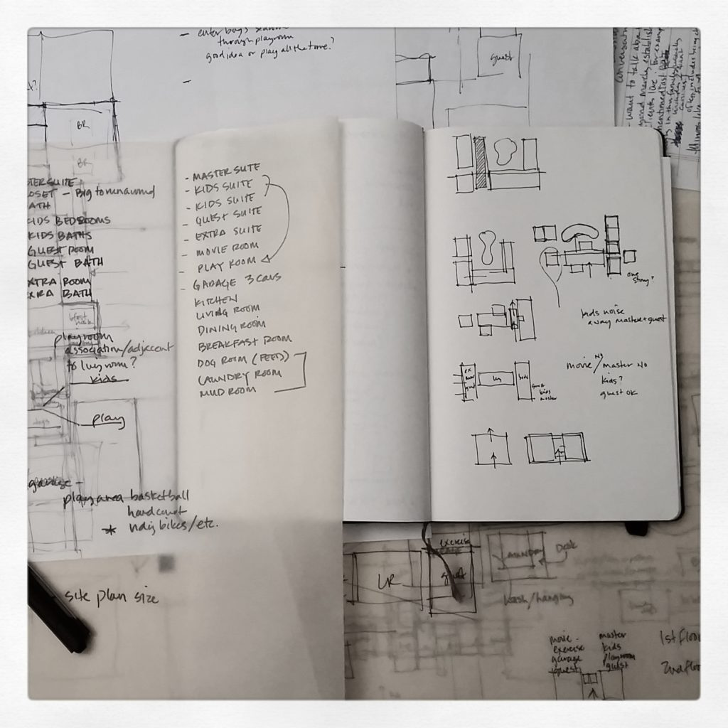 architectural sketching + design process