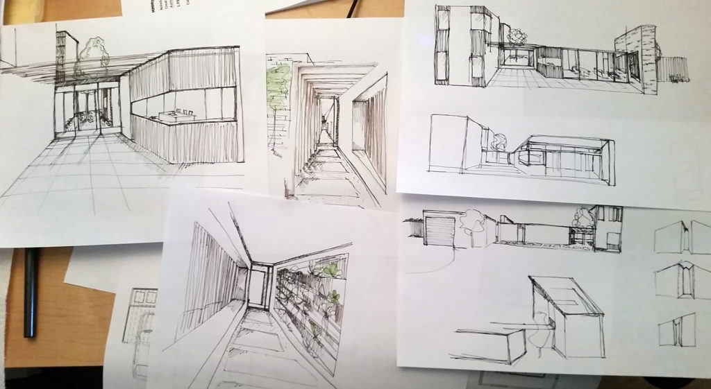 Architectural Sketches - vignettes