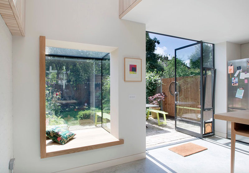 Residential design inspiration modern window seat - Fensterbank innen modern ...