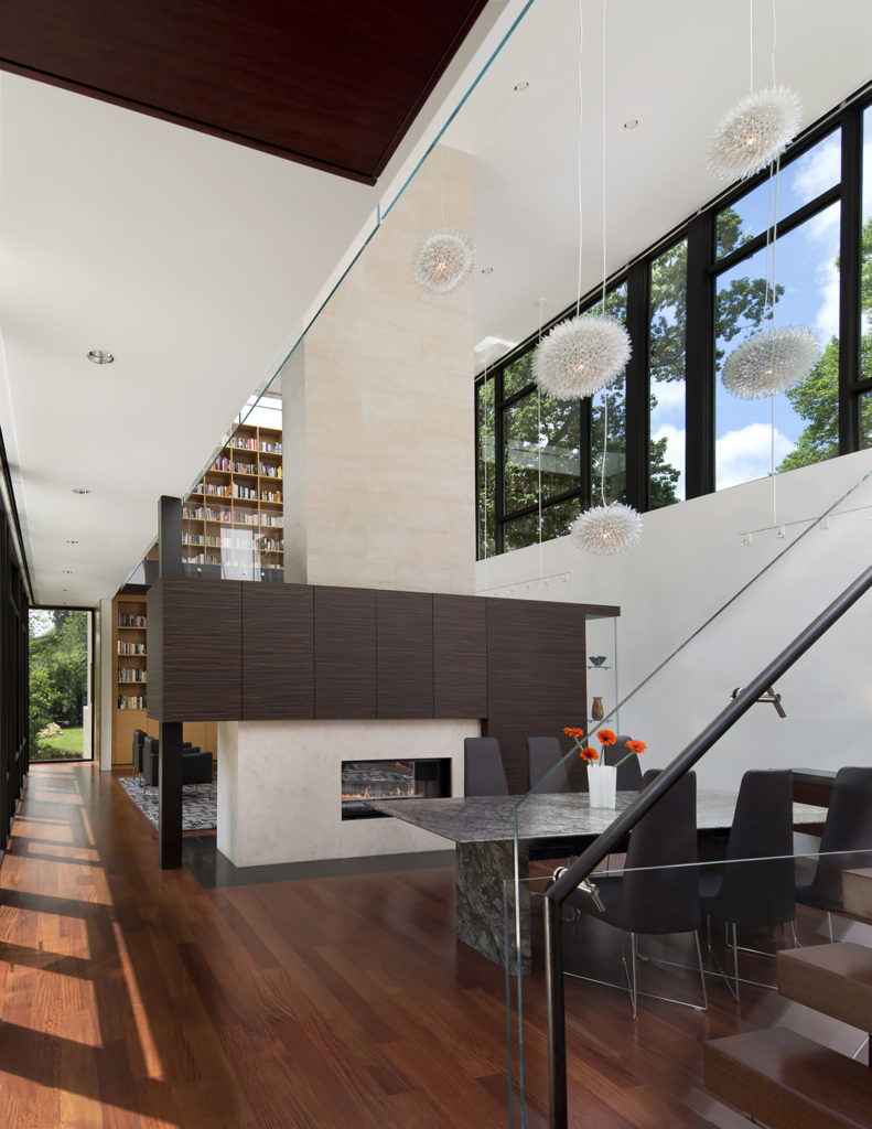 Central Fireplace - Brandywine House - Robert M. Gurney Architect