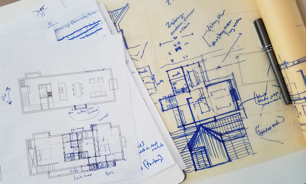 Design Sketches - What To Expect - Our Design process