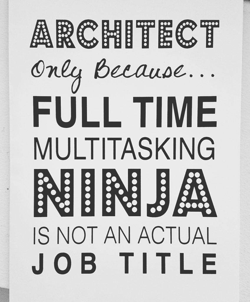 Architect as Ninja