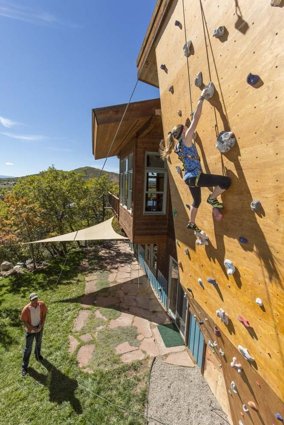 Climbing Walls, Slides, Swinging Chairs - Fun Modern Design for Adults