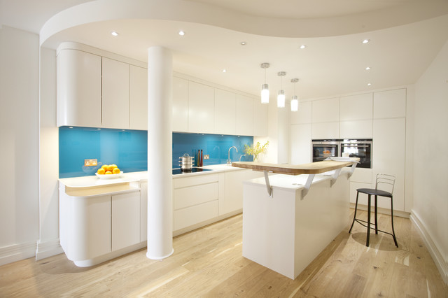 Contemporary Kitchen Design Kitchens With A Pop Of Color