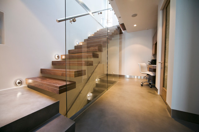 Design Is In The Details Modern Cantilevered Stair