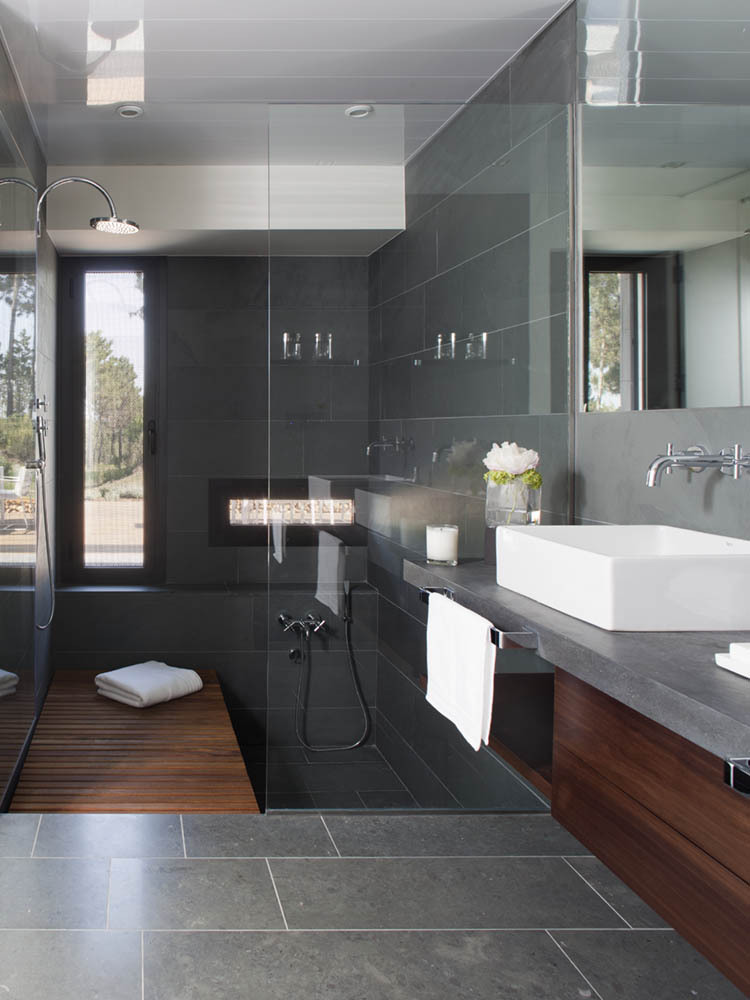 Design Inspiration: Modern Bathroom + Dark Gray - Studio ...
